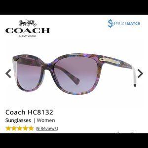 Coach HC8132 purple confetti sunglasses